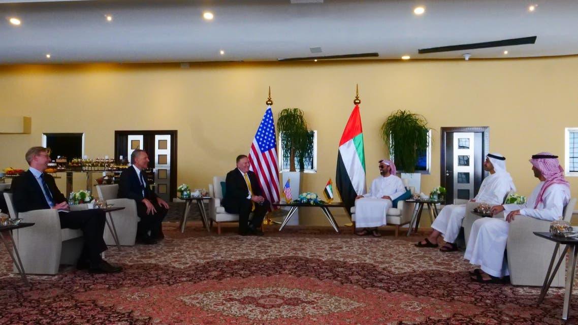 بومبيو في الإمارات