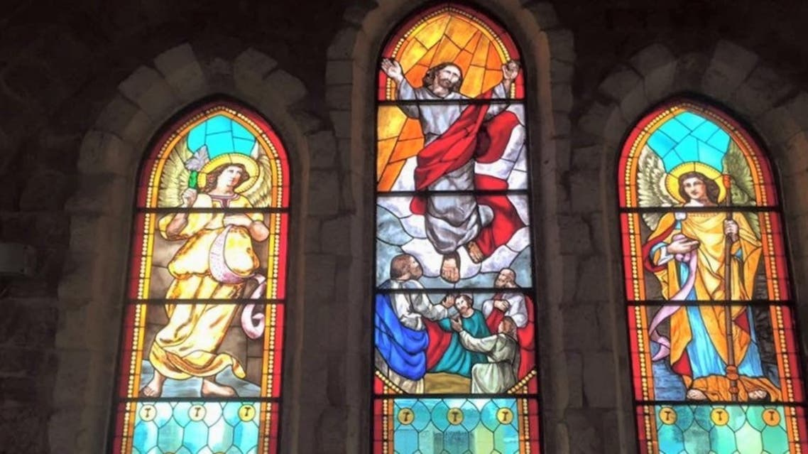 Windows are shown at the St. Louis Cathedral before the Beirut port explosion. (Supplied)