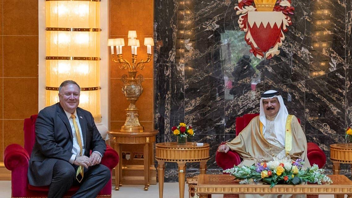 بومبيو مع ملك البحرين - فرانس برس