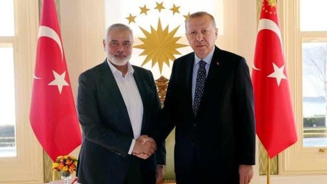 Turk President With Hamas Leader