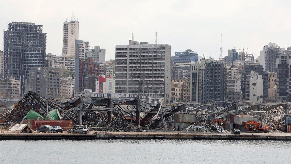 A view of the damaged site following the explosion at Beirut port, Aug. 26, 2020. (Reuters)