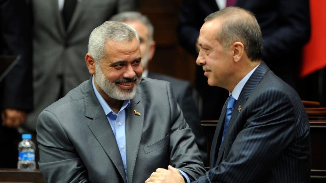 أردوغان وإسماعيل هنية (أرشيفية - رويترز)