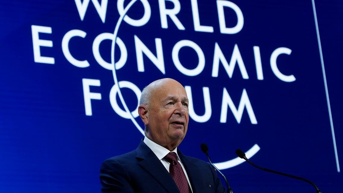 Founder and Executive Chairman of World Economic Forum Klaus Schwab speaks during a session at the 50th World Economic Forum (WEF) annual meeting in Davos, Switzerland. (Reuters)