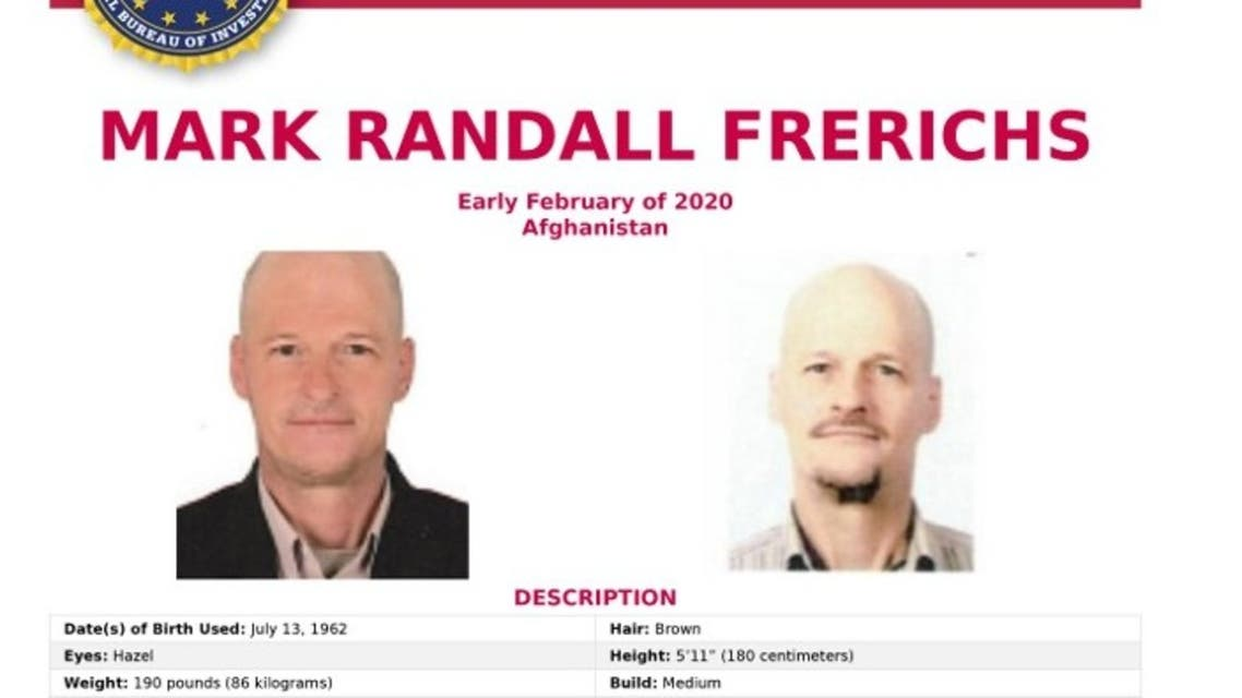 This poster image courtesy of the FBI shows the kidnapping poster for Mark Randall Frerichs. (AFP)
