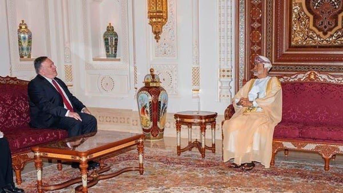 Mike Pompeo and Omani Sultan