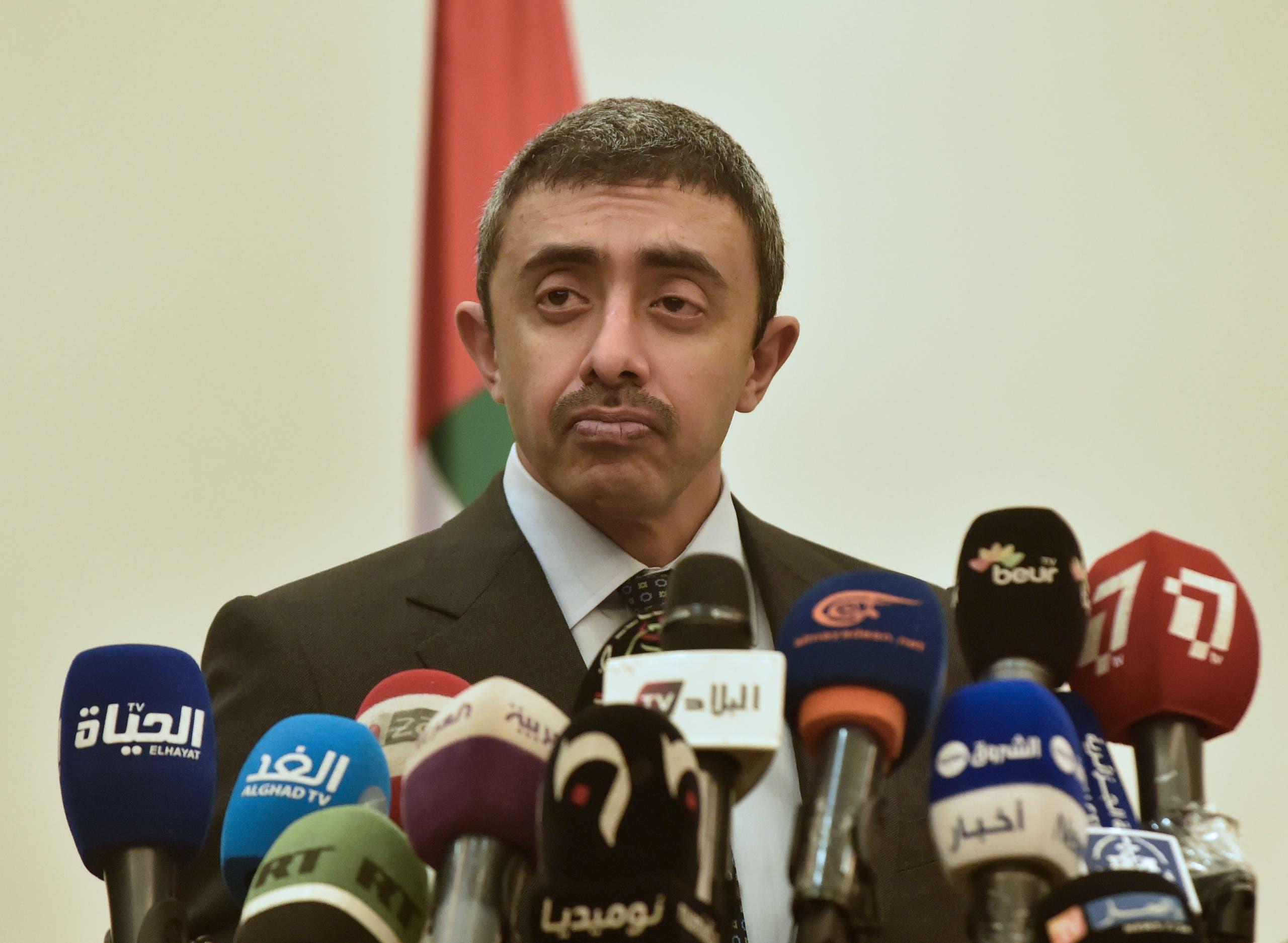 وزير الخارجية الإماراتي الشيخ عبد الله بن زايد