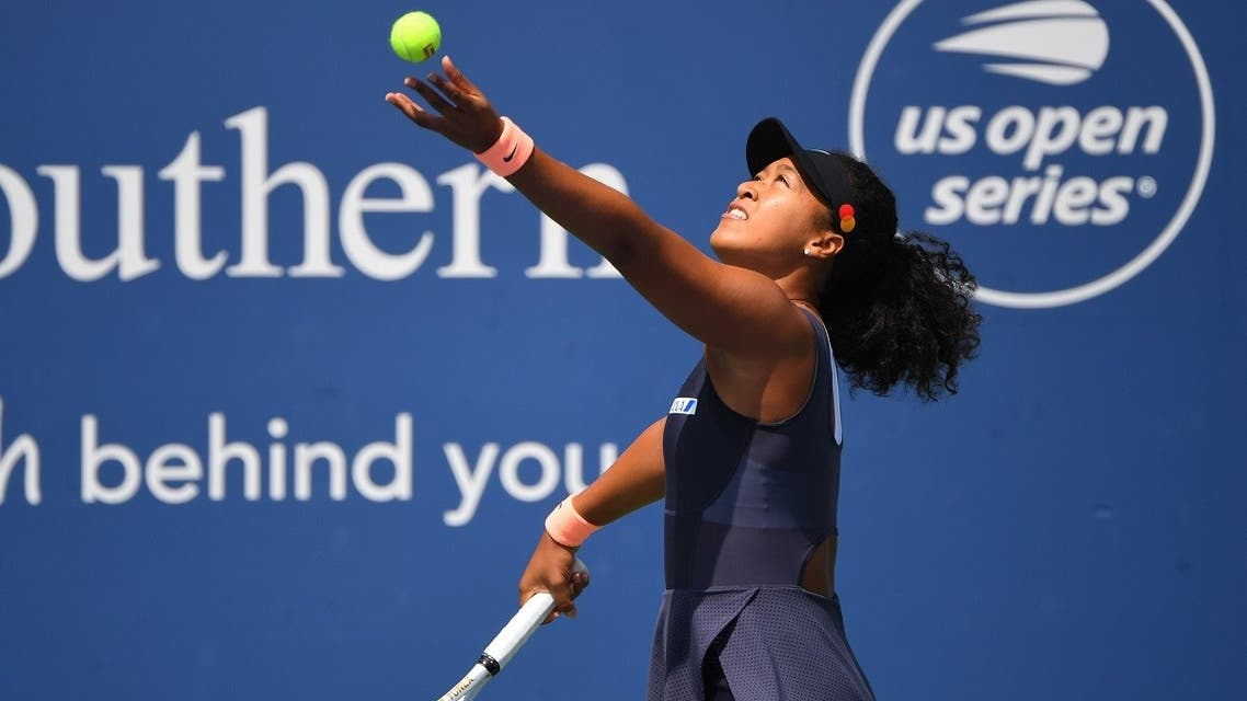 Naomi Osaka of Japan during her match against Anett Kontaveit of Estonia in the Western & Southern Open at the Flushing Meadows, New York, USA, on August 26, 2020. (Reuters)
