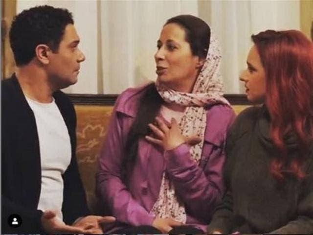 مع نيللي كريم وآسر ياسين في 100 وش