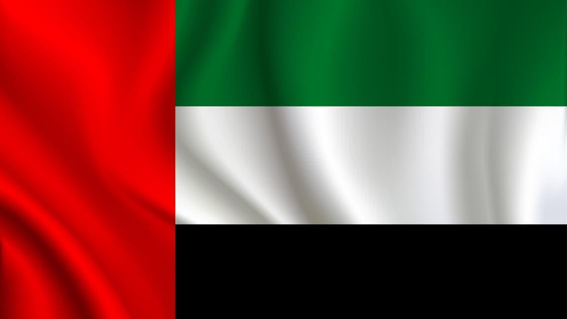 United Arab Emirates flag background stock illustration