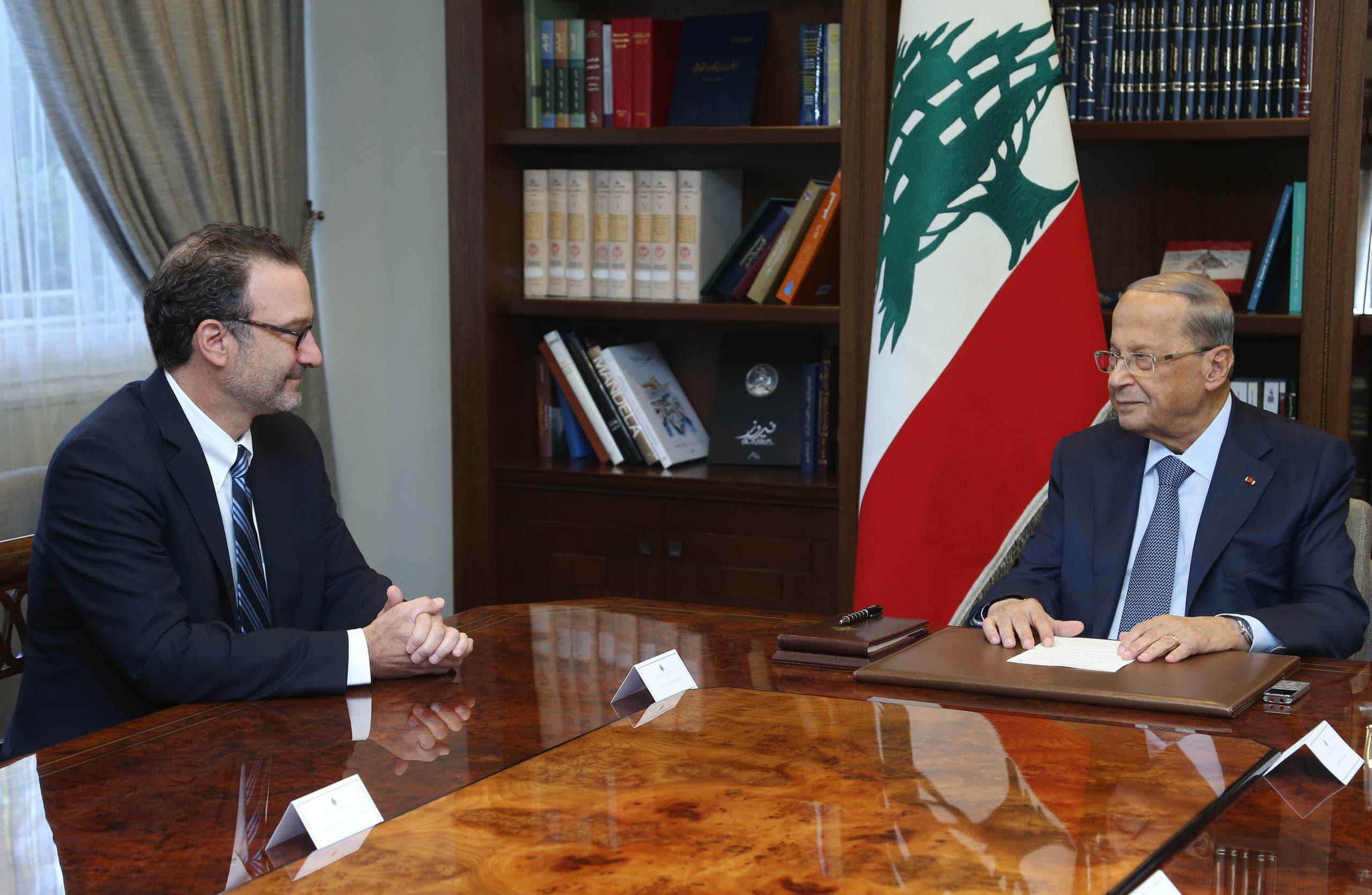 من زيارة سابقة لشينكر إلى بيروت في سبتمر الماضي التقى فيها عدداً من المسؤولين بينهم الرئيس عون ورئيس الحكومة حينها سعد الحريري
