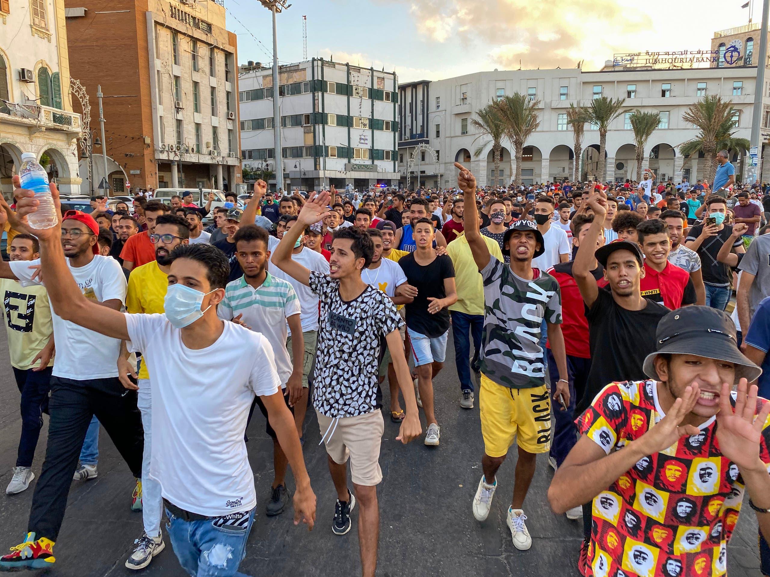 من احتجاجات الاثنين في طرابلس