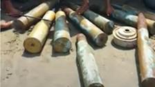 تفكيك قذائف مدفعية إيرانية غربي اليمن
