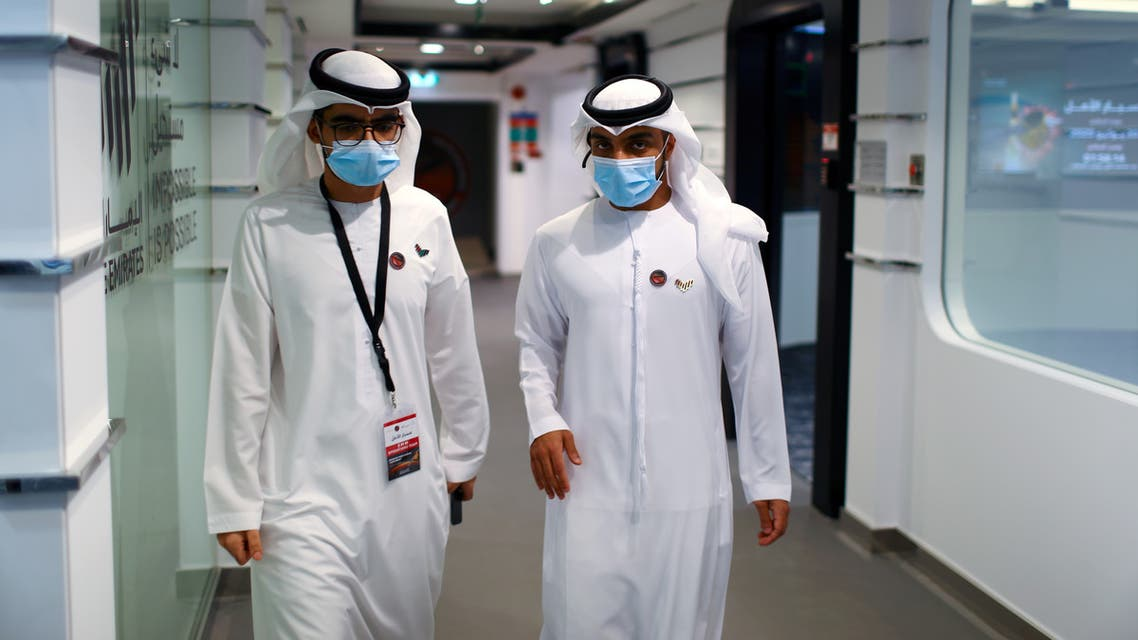 Staff members are seen at the Mohammed bin Rashid Space Centre in Dubai, United Arab Emirates July 19, 2020. (File photo: AP)