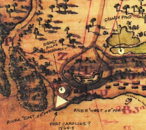 خريطة لموقع فورت كارولين