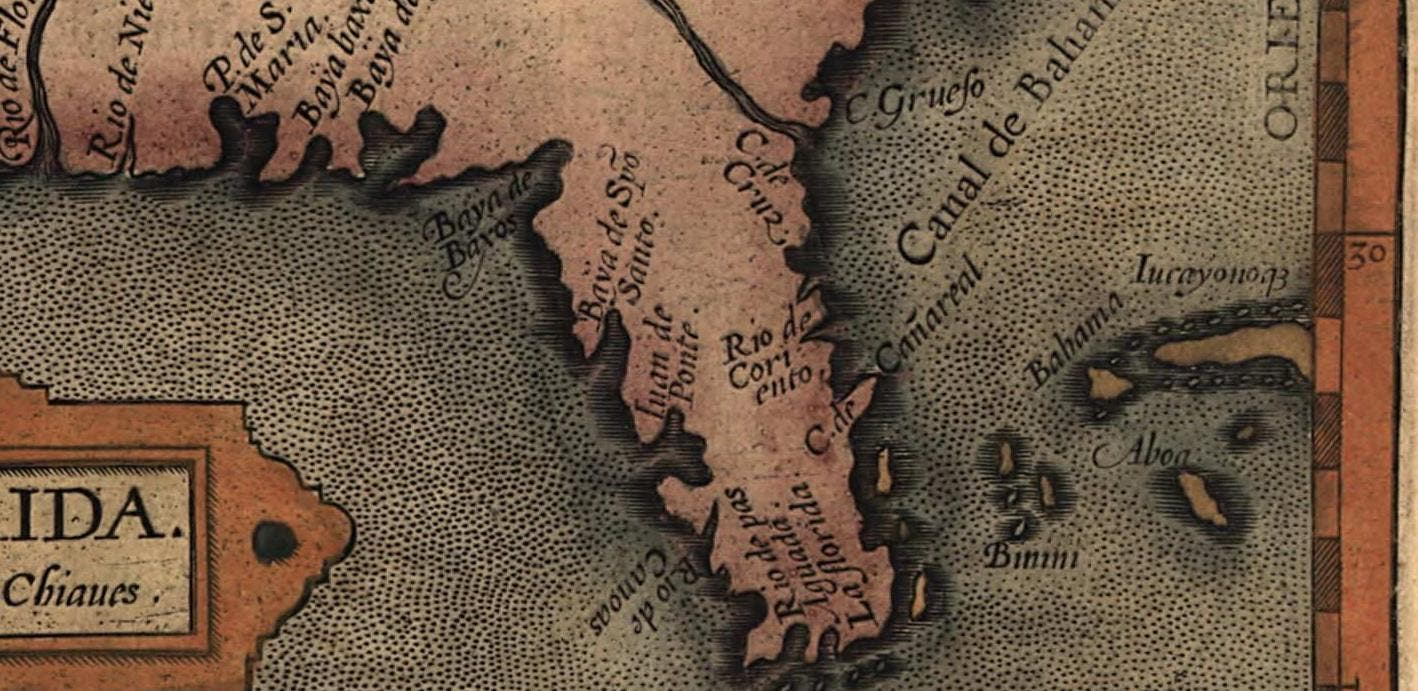 خريطة قديمة تبرز منطقة كاب كانافارال