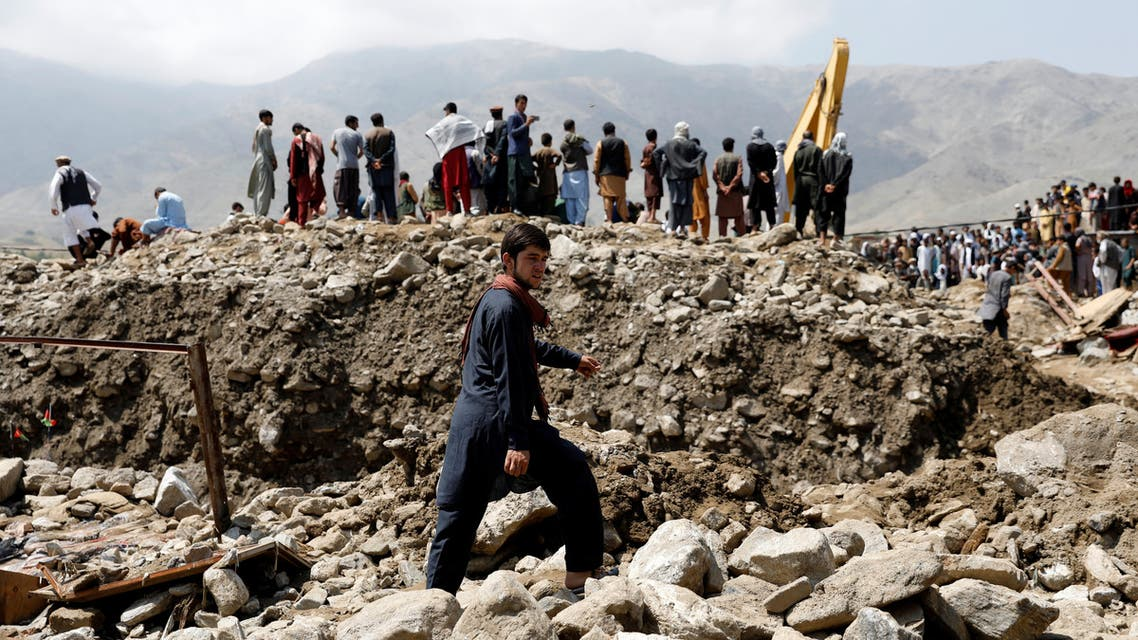 An Afghan man walks at the site after floods in Charikar, capital of Parwan province, Afghanistan August 27, 2020. (File photo: Reuters)