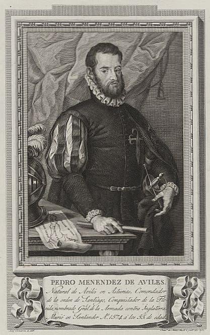 صورة للمستكشف والبحار الإسباني بيدرو مينينديز دي أفيلاس
