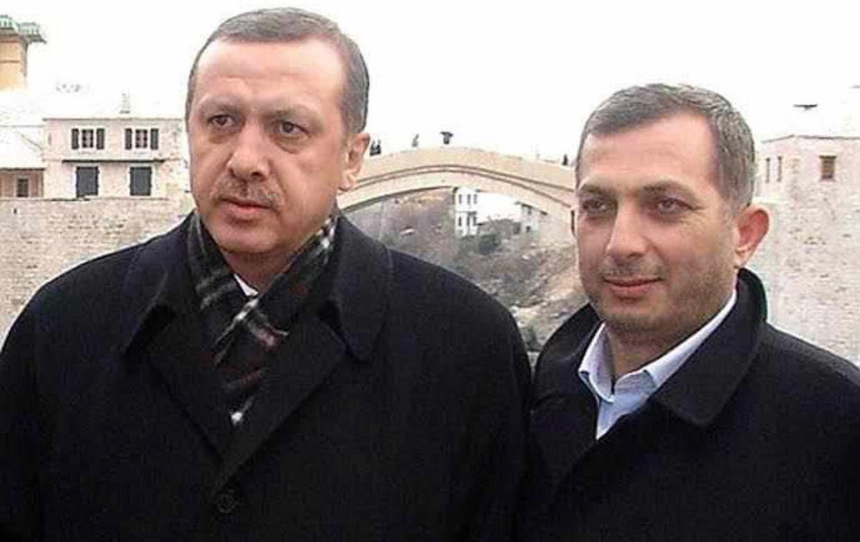 An image showing Turkish President Recep Tayyip Erdogan and lawmaker Metin Külünk. (Twitter)