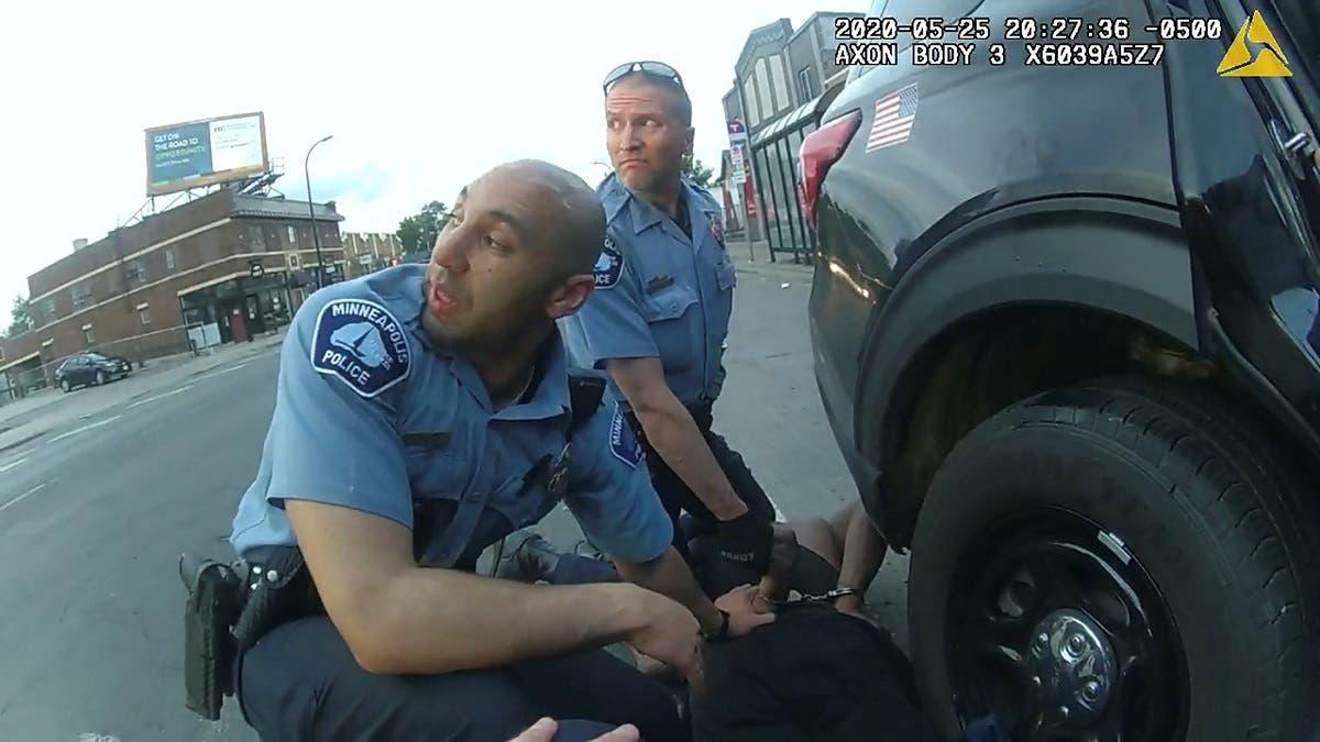 George Floyd is kneeled upon by former Minneapolis Police Department officer Derek Chauvin in Minneapolis. (Handout via Reuters)