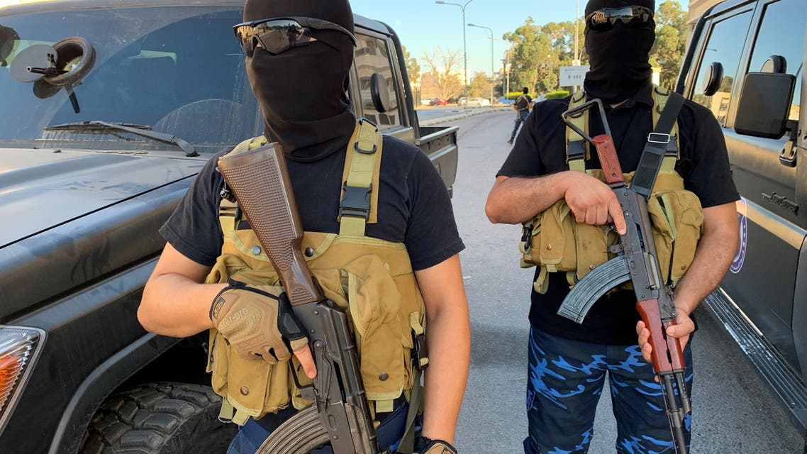 قوات أمنية موالية لباشاغا في طرابلس (أرشيفية- رويترز)