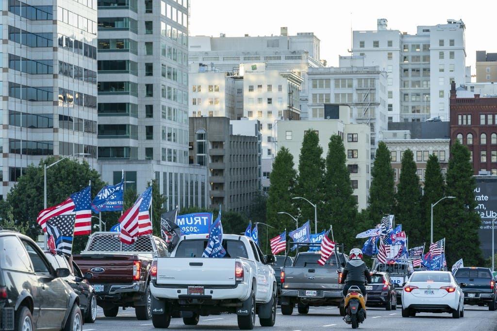 من المسيرة المؤيدة لترمب في بورتلاند الأميركية - 29 أغسطس فرانس برس