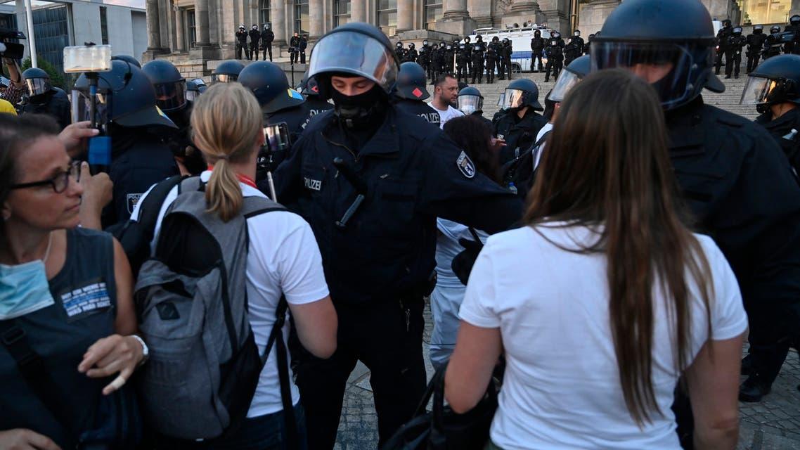 من مظاهرات ألمانيا ضد الكمامة