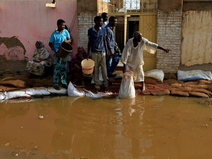 صور.. الفيضان يدمر أكثر من ألف منزل في السودان