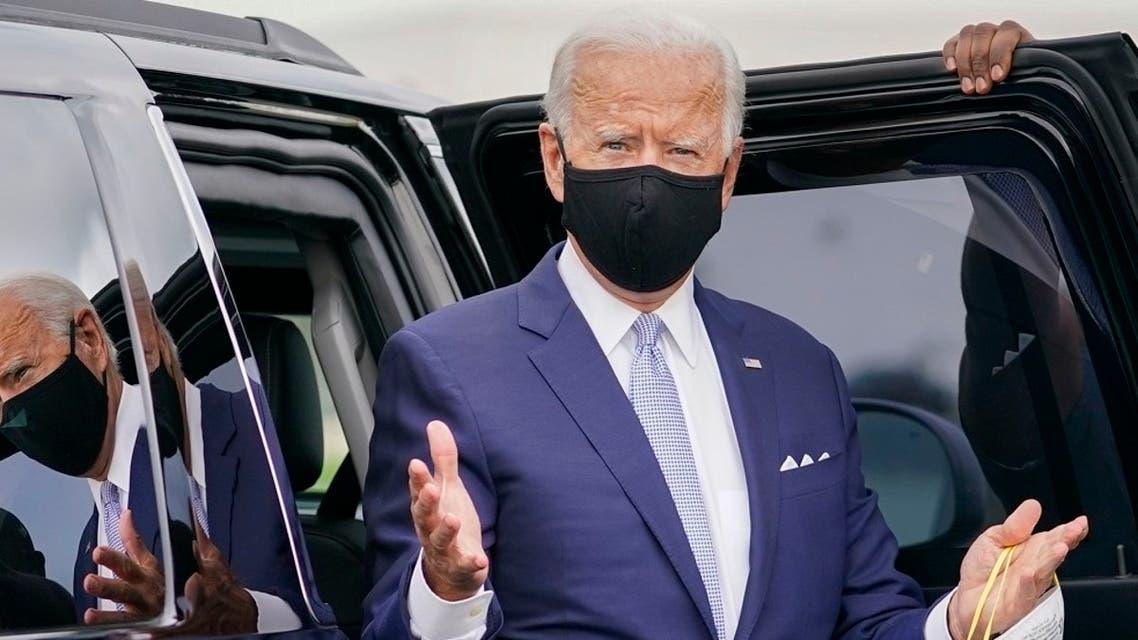 Democratic presidential candidate Joe Biden en route to speak in Pittsburgh, Pa., Aug. 31, 2020. (AP)