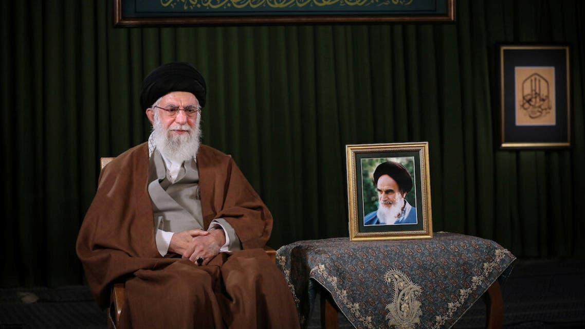 Iran's Supreme Leader Ayatollah Ali Khamenei delivers a televised speech on the occasion of the Iranian New Year Nowruz, in Tehran. (File photo: Reuters)