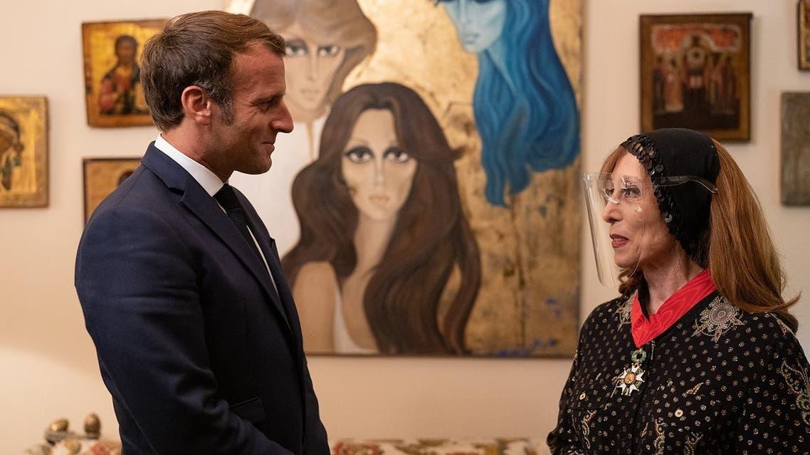 fairuz with Macron