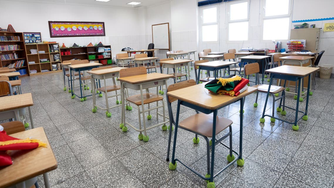 An empty classroom is seen in a private school in Hawally, after the Ministry of Education suspended schools and universities, in Kuwait city, Kuwait, March 2, 2020. (File photo: Reuters)