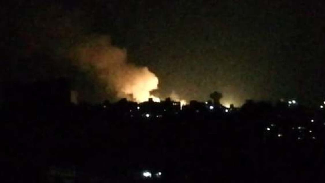 An image of the Israeli strike near Damascus. (Syrian Observatory for Human Rights)