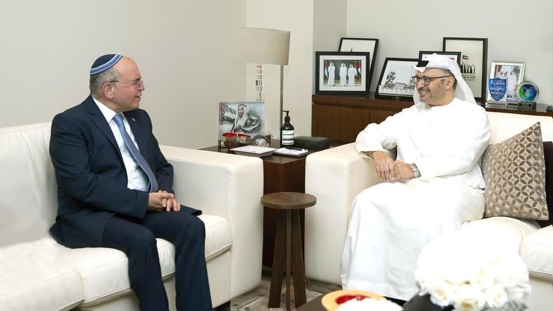 UAE's Gargash meets in Abu Dhabi with Israel's head of the National Security Council