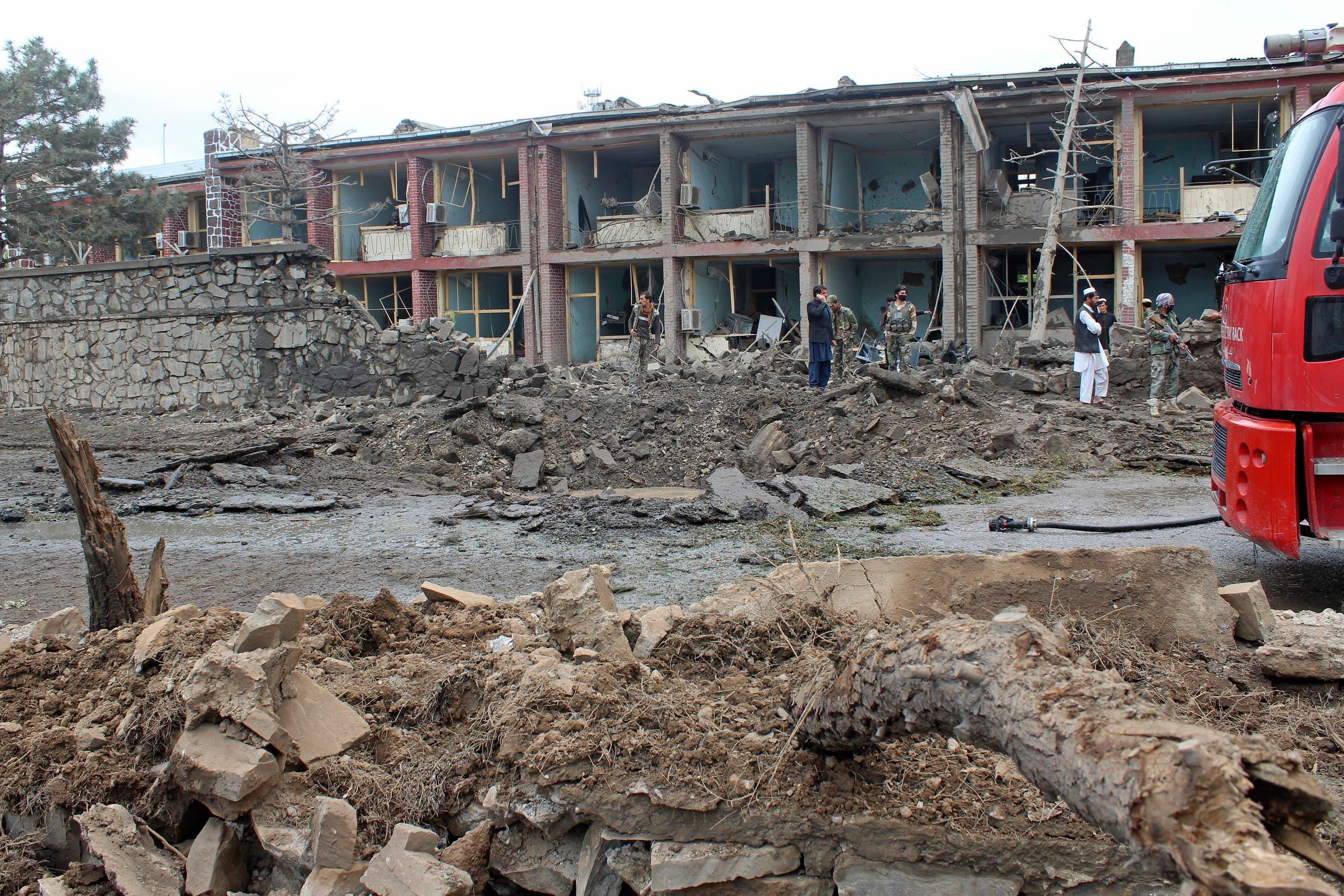 اانفجار سابق استهدف قاعدة غارديز في مايو الماضي