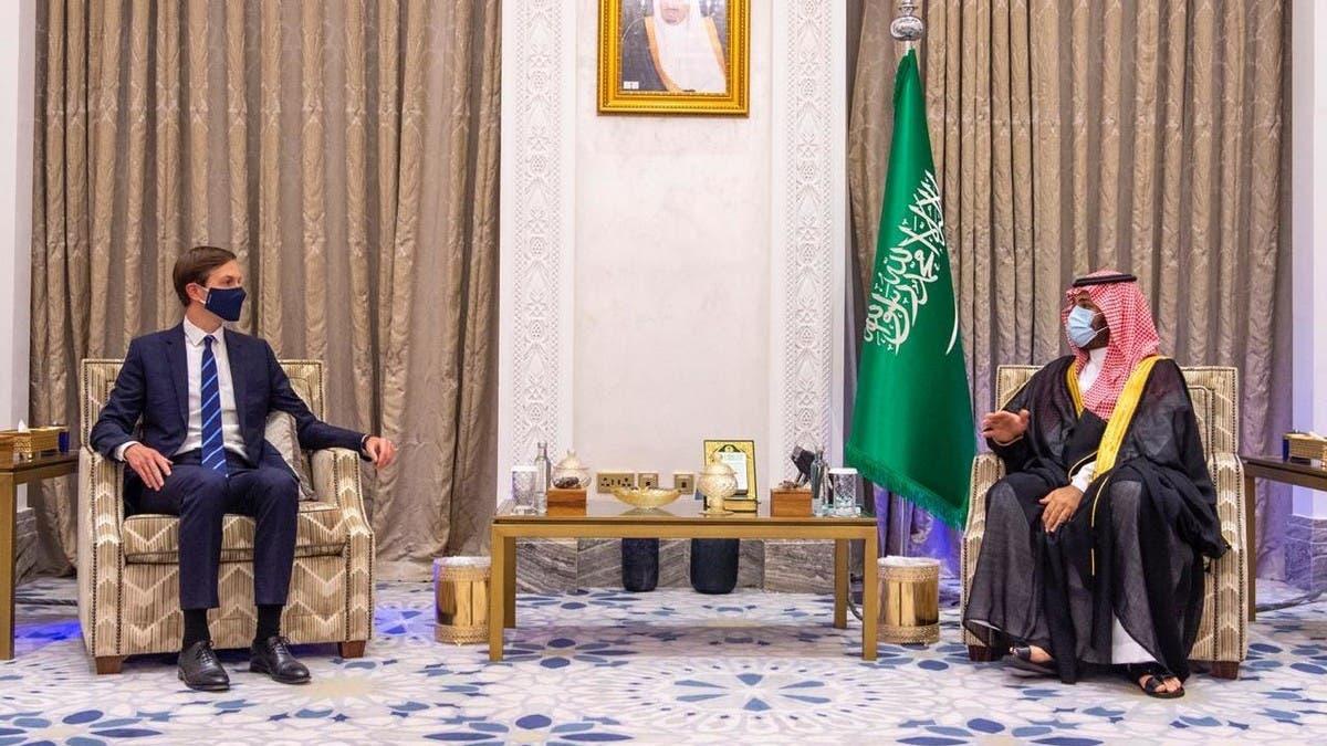 Saudi Arabia's Crown Prince Mohammed bin Salman meets with Jared Kushner thumbnail