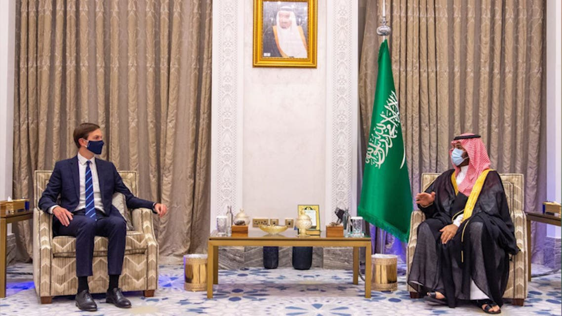 Saudi Arabia's Crown Prince Mohammed bin Salman meets with Jared Kushner