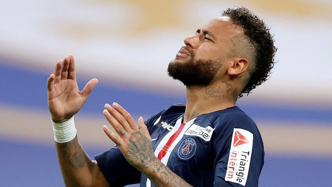 Paris St Germain's Neymar reacts during a game. (File photo: Reuters)