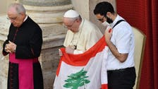 Pope Francis prays for Lebanon during 1st public audience in months