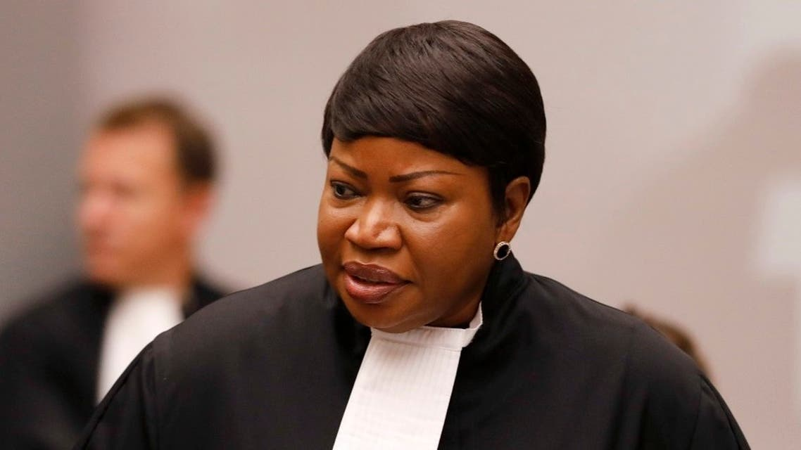 Prosecutor Fatou Bensouda in the courtroom of the International Criminal Court (ICC), in The Hague, Aug. 28, 2018. (AP)