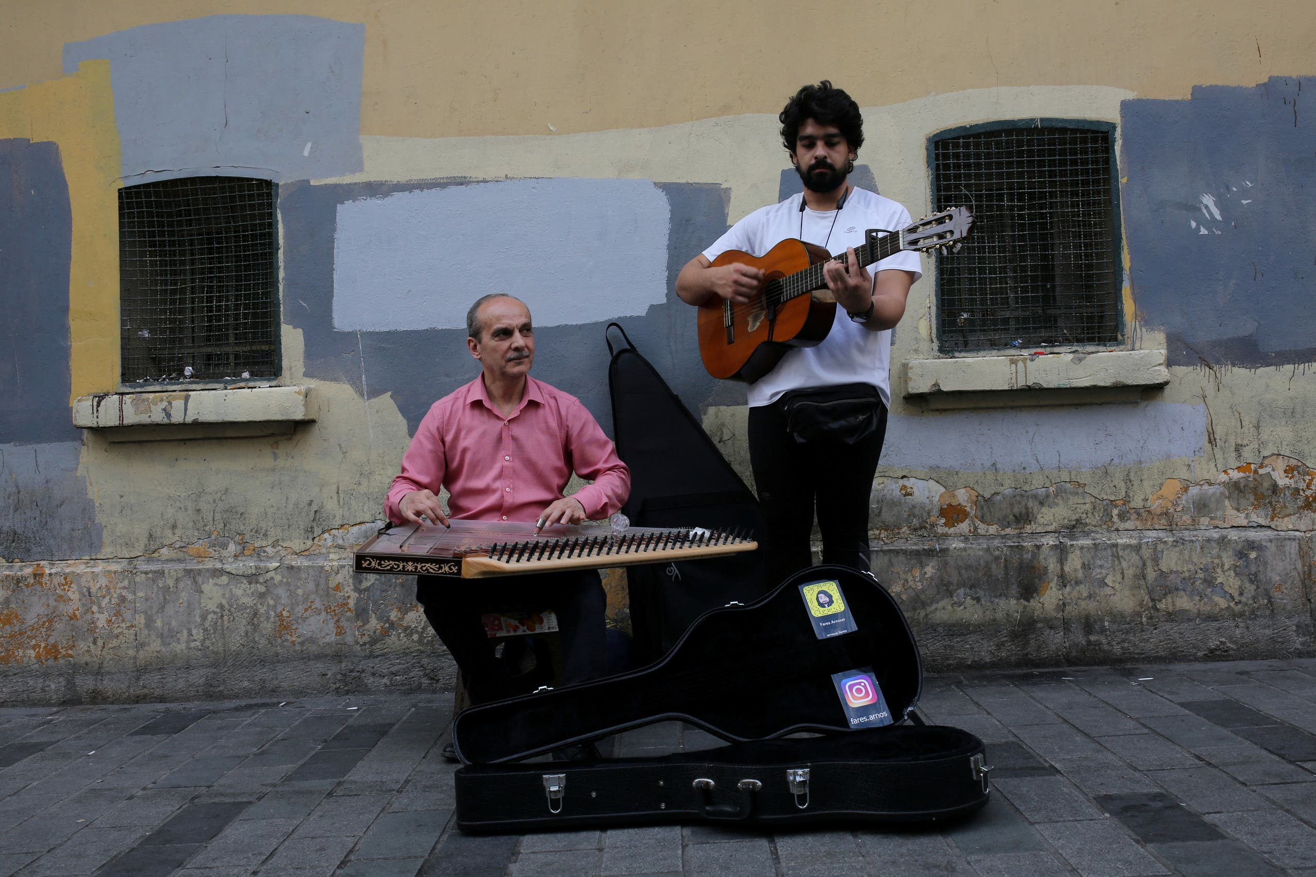 Syrian musicians, refugees from Aleppo, perform in central Istanbul, Turkey, June 20, 2019. (Reuters)