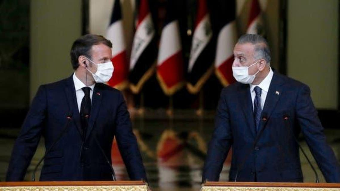 Iraqi PM and French President
