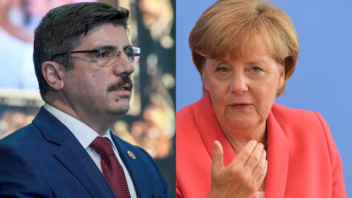 Erdogan adviser accuses Germany's Merkel of calling 'Crusaders' to the Mediterranean (AFP combo photo)