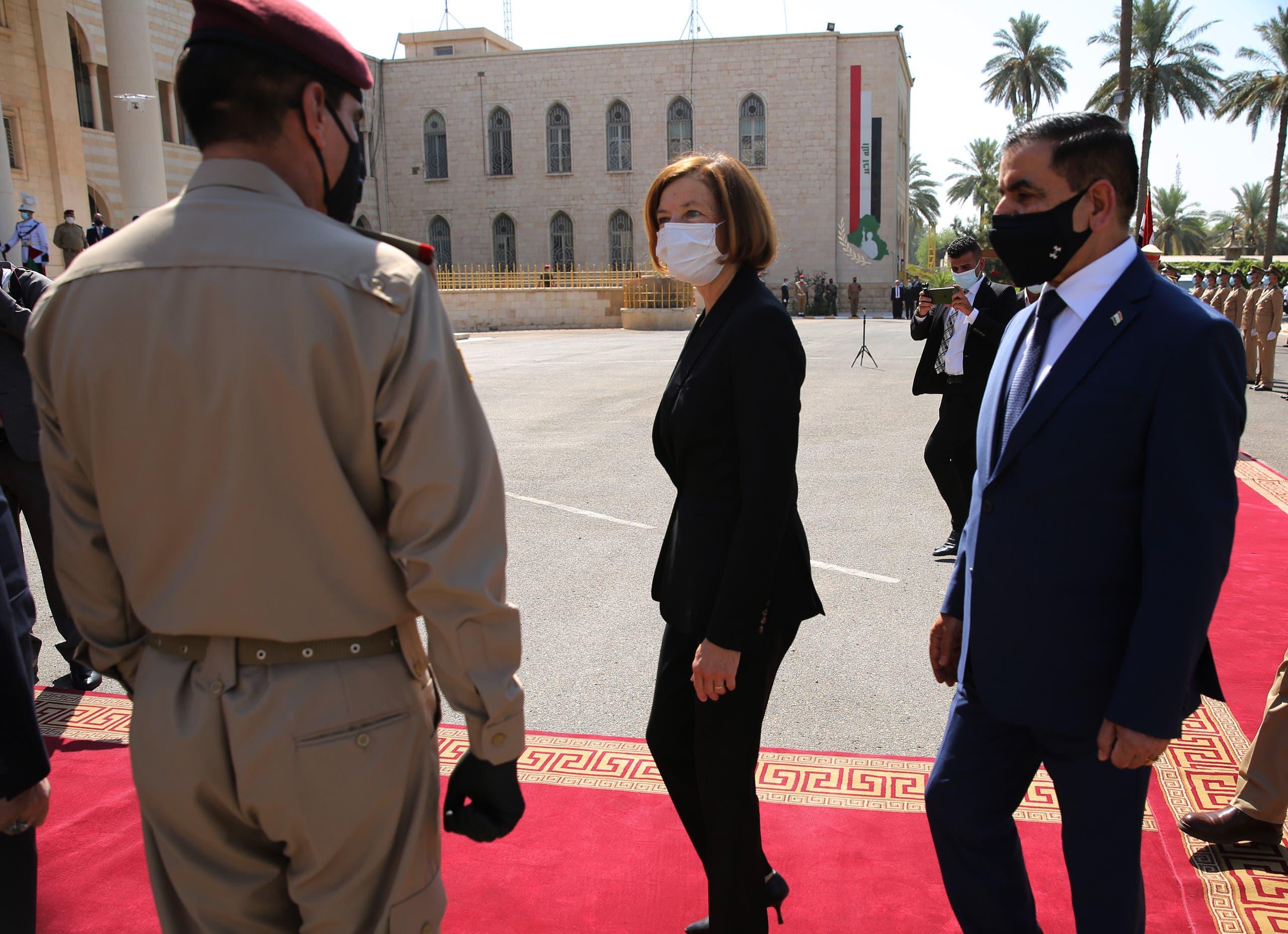 من زيارة  وزيرة الجيوش الفرنسية فلورانس بارلي إلى العراق