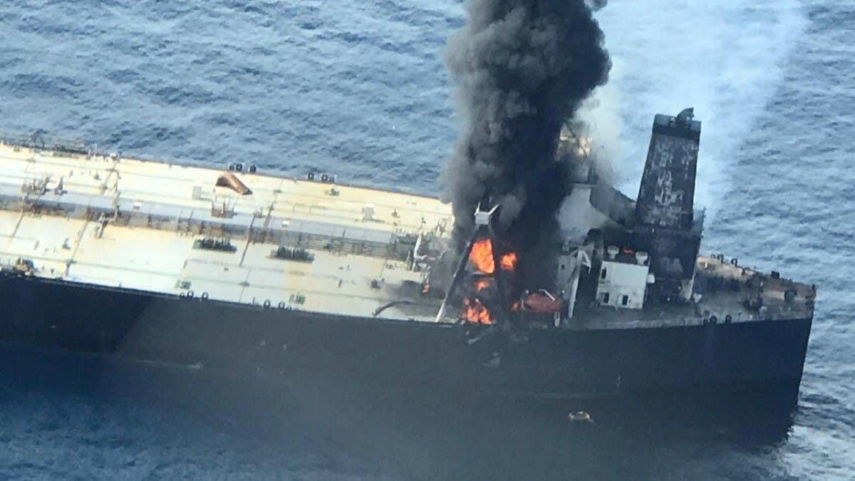 Second fire breaks out on fuel tanker sailing from Kuwait to Sri Lanka thumbnail