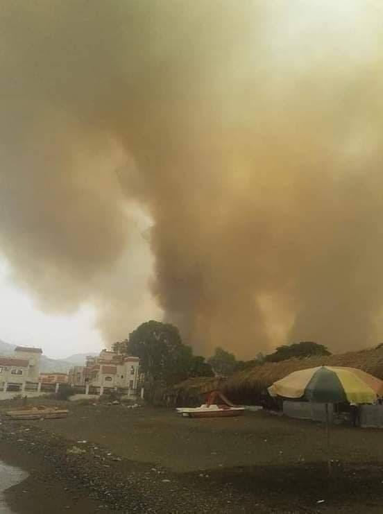 من الحريق الذي تسبب به السوري مرعي في اللاذقية
