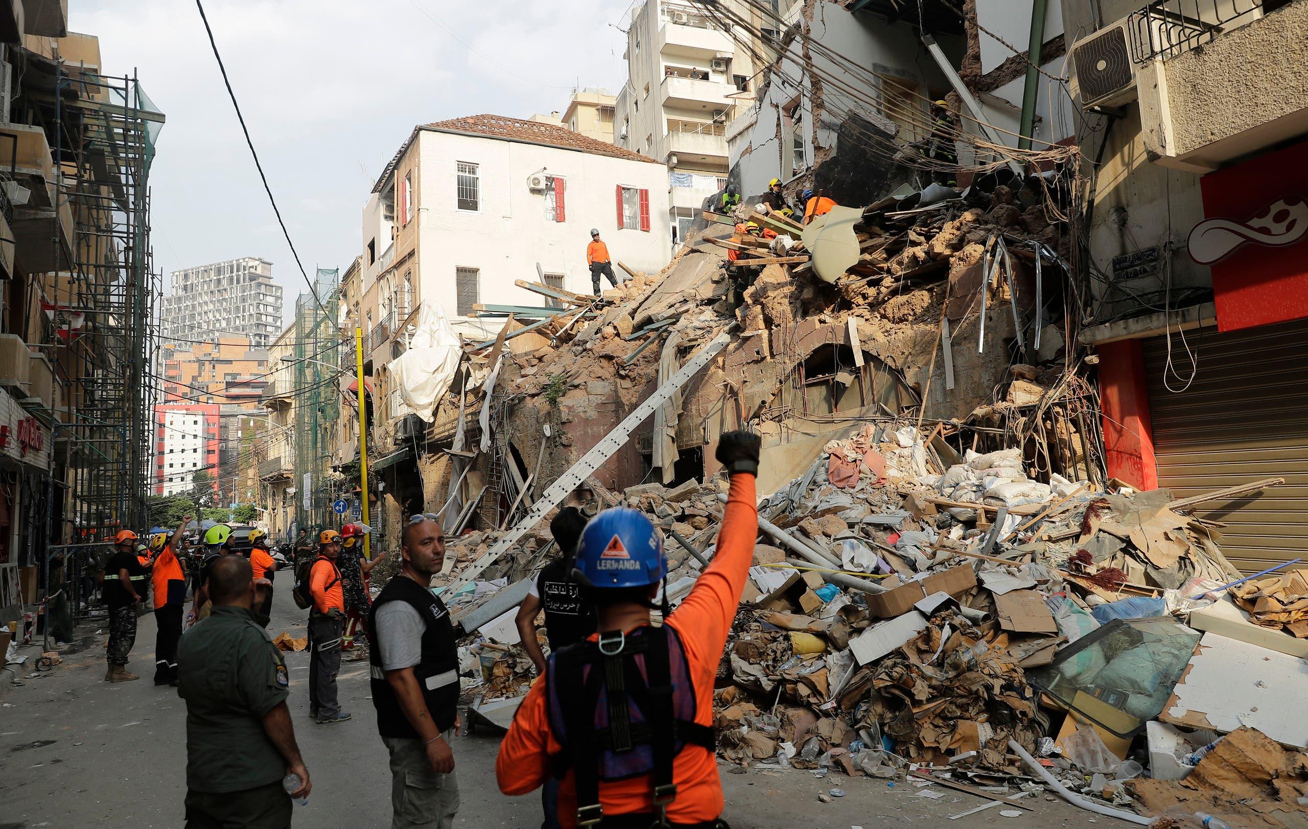 من منطقة مار مخايل في بيروت (3 سبتمبر 2020- فرانس برس)