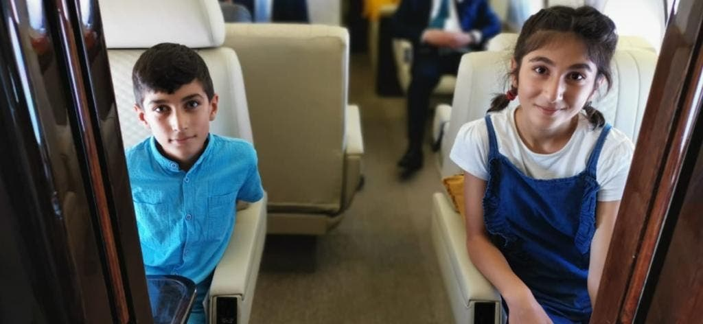 الطفلان الإيزيديان