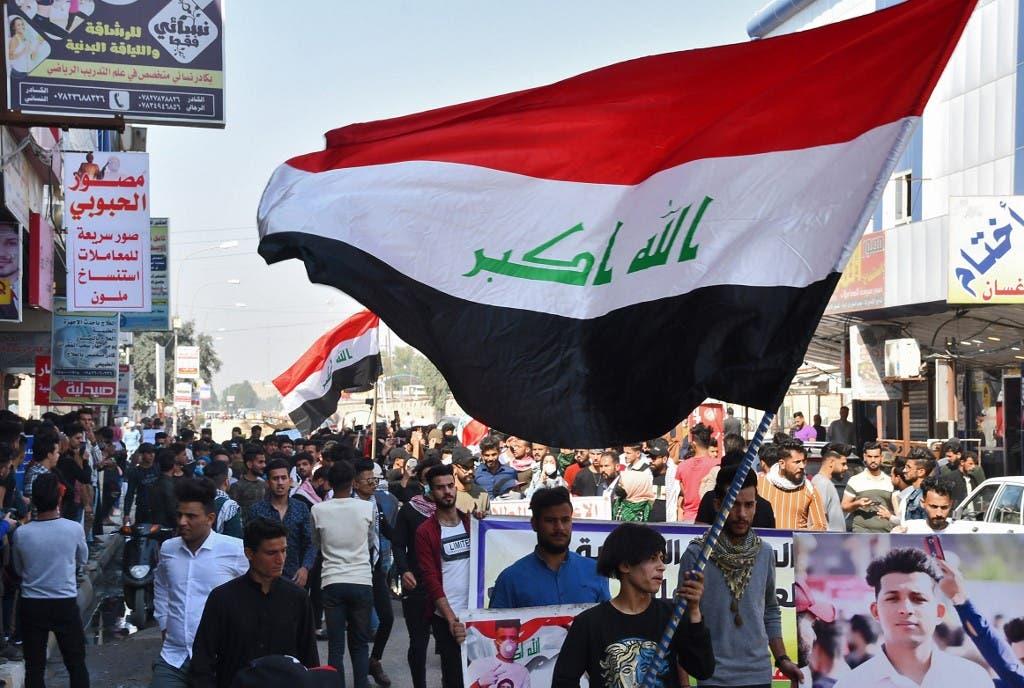 من تظاهرات الناصرية في محافظة ذي قار - أرشيفية