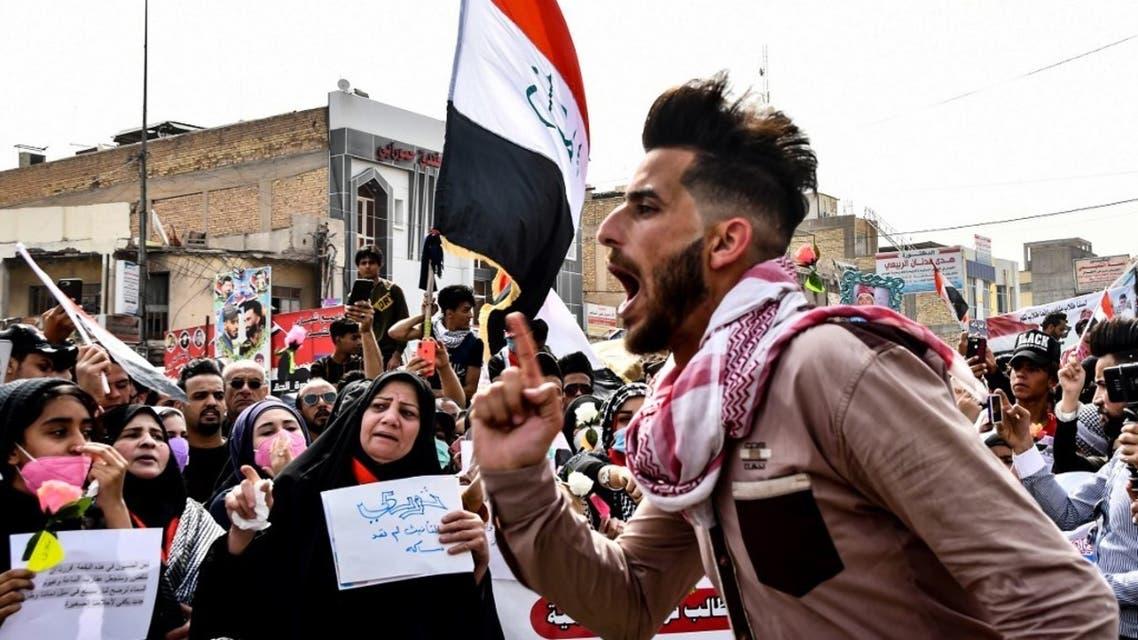 من تظاهرات الناصرية - أرشيفية من فرانس برس