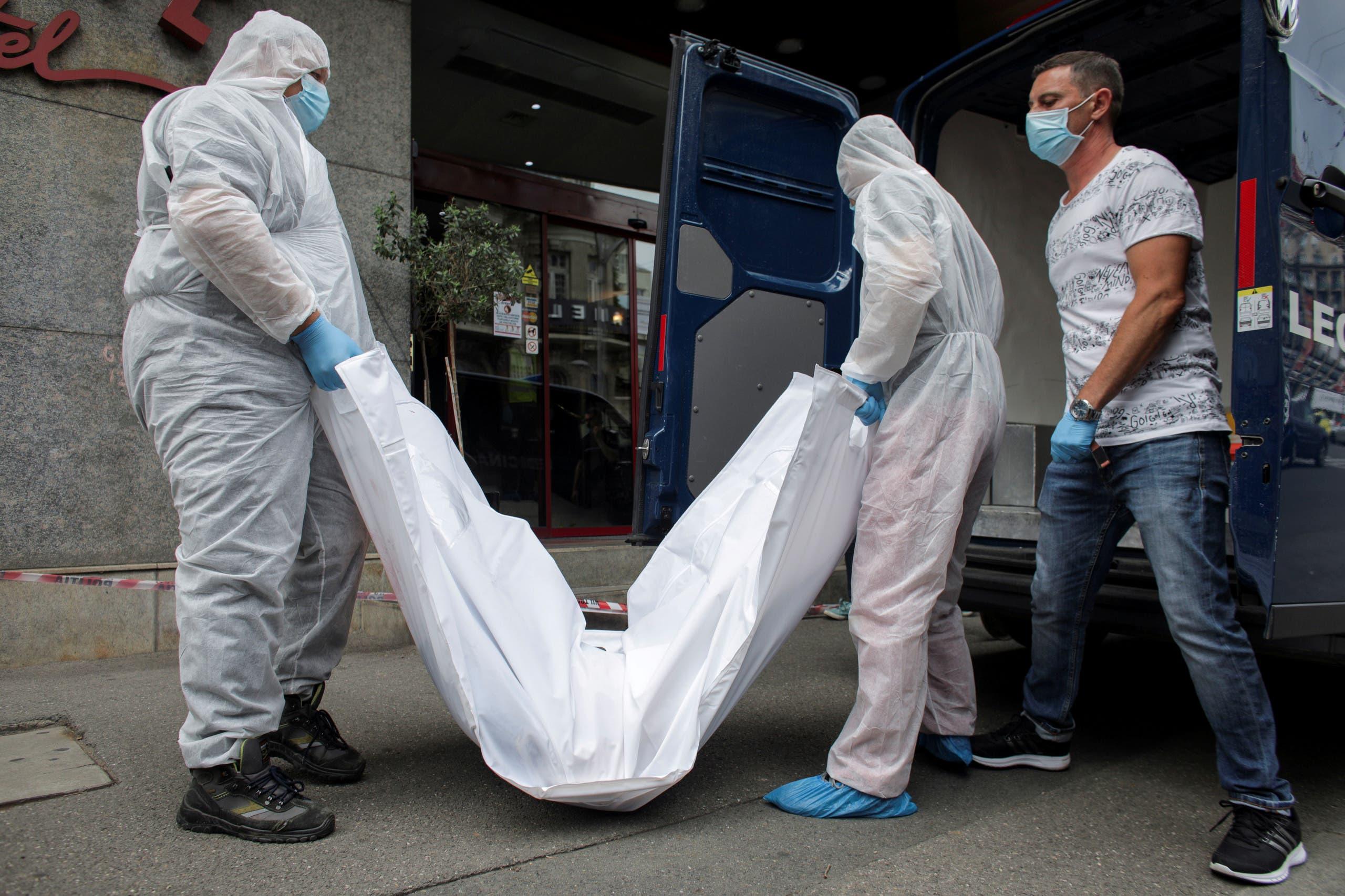 جثة القاضي الإيراني غلام رضا منصوري (أرشيفية- رويترز)